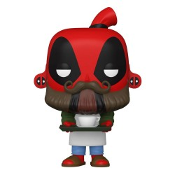 Marvel Deadpool 30th Anniversary Figurine POP! Vinyl Coffee Barista Deadpool 9 cm