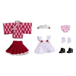 Original Character accessoires pour figurines Nendoroid Doll Outfit Set Japanese-Style Maid Pink