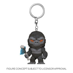 Godzilla Vs Kong porte-clés Pocket POP! Vinyl King Kong with Axe 4 cm