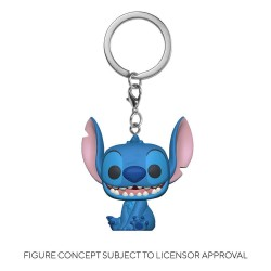 Lilo & Stitch porte-clés Pocket POP! Vinyl Stitch 4 cm