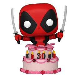 Marvel Deadpool 30th Anniversary Figurine POP! Vinyl Deadpool in Cake 9 cm