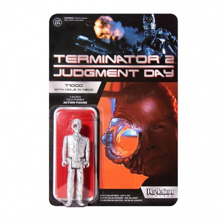 Terminator 2 figurine ReAction T1000 Officer with Hole In The Head Super7 Exclusive 10 cm