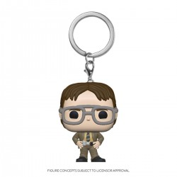 The Office US porte-clés Pocket POP! Vinyl Dwight Schrute 4 cm