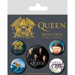 Queen pack 5 badges Classic