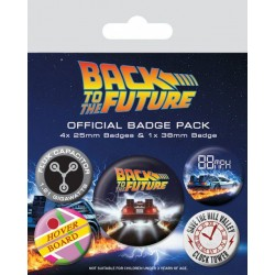 Retour vers le Futur pack 5 badges DeLorean
